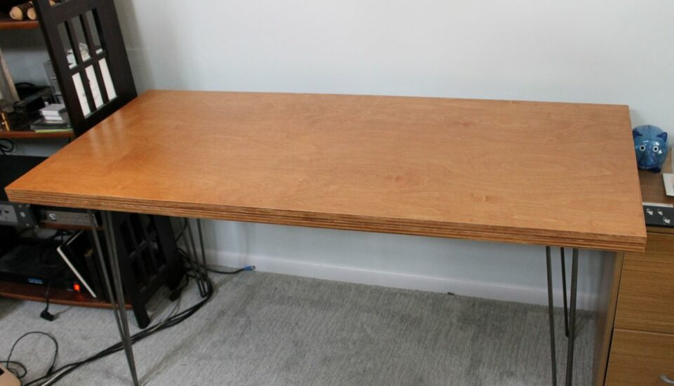 A completed midcentury desk